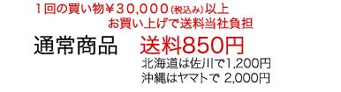 通常商品送料850円北海道